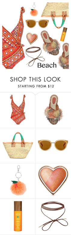 """Beach Style"" by dressedbyrose ❤ liked on Polyvore featuring Moschino, Sanchita, Balenciaga, Draper James, Accessorize, Too Faced Cosmetics, Alterna, beach, ootd and polyvoreeditorial"