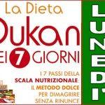 Schema della dieta Dukan dei sette giorni per il lunedì