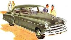 1950 Chevy - I didn't really 'own' this car. It was my family's 2nd car at the time I got my drivers license and was the one I could use most often. Picture is pretty accurate, although ours was kind of a beater.