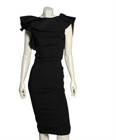 Lanvin Draped Collar Stretch Dress
