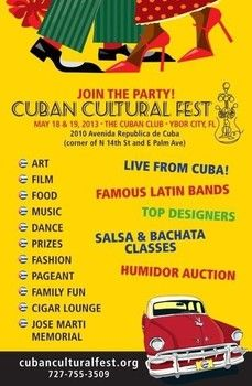 Cuban Cultural Fest also to commemorate Jose Marti - come join us this weekend