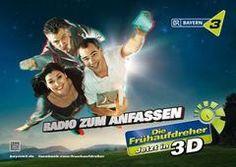 Bayern 3 Kampagne von #Saint Elmo´s # Fischer´s Archiv #Anzeigen #Media innovation #3D