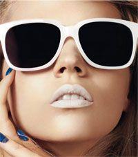 1960s white lipstick.