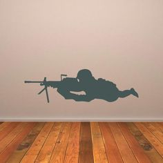 Snipper army soldier troop vinyl wall art decal sticker boys room decor PI064