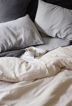 Luxurious European flax linen sheets, duvet covers, pillowcases, throws, robes and more. Our linen is pre-washed for softness and is available in a range of CULTIVER colors. Linen Sheets, Linen Bedding, White Bedding, Bedding Sets, Bedroom Linens, Neutral Bedding, Cotton Bedding, Neutral Bed Sheets, Cream Bed Sheets