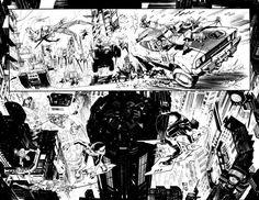 [Artes] Espectacular página en blanco y negro por Sean Gordon Murphy con Batma Beyond (y Robin)