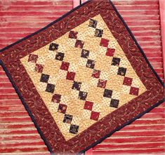 Four Patch Mini PDF quilt pattern by myreddoordesigns on Etsy, $6.50