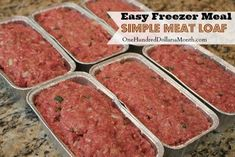 Might put mozzarella cheese in it which is the way I make my regular meatloaf!! Easy Freezer Meal Simple Meat Loaf #freezermeals #freezer #dinner #foodies #recipe #meatfloaf