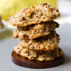 Chocolate chip oatmeal cookies- apple sauce substituted for butter and eggs!