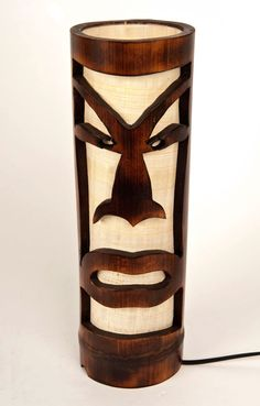 Mask bedside lamp bamboo table lamp Valentine's wooden door bamboobg