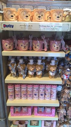 Disneyland Hong Kong Duffy The Disney Bear and Shellie May Merchandise. Duffy The Disney Bear, Tokyo Disneyland, Disney Merchandise, Walt Disney, Bunny, Teddy Bear, Disney Stuff, Hong Kong, Party