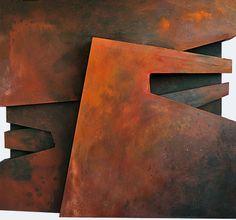EPICENTRO NEURÁLXICO DE PLANOS Á DERIVA (130 X 120 cm. Mixta / lienzo.) Guillermo Pedrosa