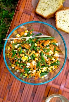recipe made from haricots verts, corn and carrots. Haricots verts ...