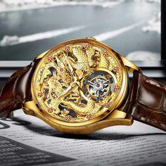 Best Watches For Men, Luxury Watches For Men, Cool Watches, Mens Skeleton Watch, Tourbillon Watch, Mechanical Watch, Watch Case, Watch Brands
