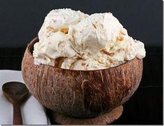 coconut icecream. in a coconut :)