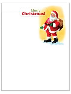 Printable Christmas Stationery To Use For The Holidays
