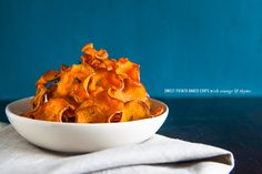 Sweet Potato Baked Chips with Orange and Thyme