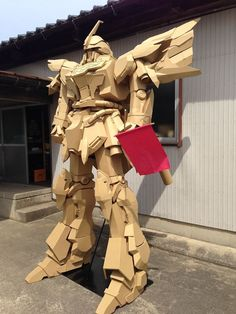 """Kyoto artist Masahiko Senda doesn't sculpt with stone or clay. He uses cardboard to create his statues and figurines. Senda says he strives to create pieces that """"surprise and amuse people."""" He should add """"impress"""" to that list, because that's exactly what his work does."""