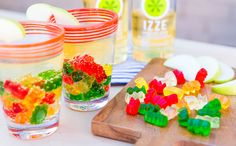 Not your average ice cube! Add some sparkle to your cocktail with frozen gummy bears.