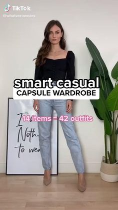 Smart Casual Wardrobe, Casual Work Outfits, Stylish Outfits, Smart Casual Work Outfit Women, Smart Casual Women Summer, Style Smart Casual, Casual Wear For Women, Smart Business Casual Women, Capsule Wardrobe Casual