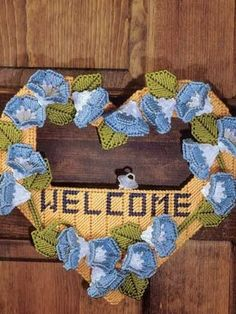 morning glory welcome  plastic canvas 1 of 3