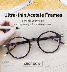 9780b931ca9 Ultra-thin Acetate. Cheap EyeglassesFramesRound ...