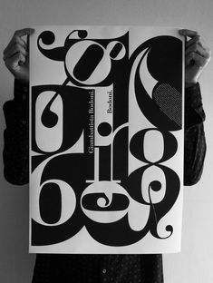 Bodoni // Exploring Type Posters by Adam Wouldes, via Behance