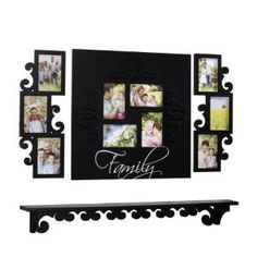 collage frame, great for my hallway Picture Frame Decor, Collage Frames, Family Wall, Floating Shelves, Photo Wall, Gallery Wall, Home Decor, Photograph, Decoration Home