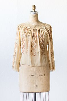 vintage 1930s golden embroidered hungarian peasant top