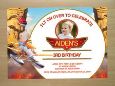 Planes Fire and Rescue Birthday Invitation  by SquigglesDesigns
