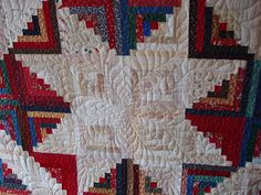 Log Cabin detail with beautiful quilting