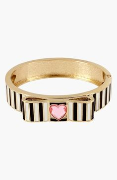 Betsey Johnson 'Paris' Stripe Hinged Bangle available at #Nordstrom