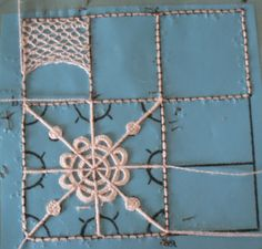 This weekend I took a class in needlelace presented by Doreen Holmes and sponsored by the Queen City Sampler Guild .Slide 9 needle made lace Needle Tatting, Tatting Lace, Needle Lace, Bobbin Lace, Hardanger Embroidery, Hand Embroidery Stitches, Lace Embroidery, Embroidery Techniques, Smocking Patterns