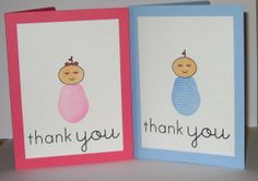 Baby Thank You Cards  Baby Girl Thank You  Baby by GlitterInkCards, $16.00