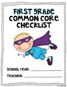 Be a Common Core Superhero!  Use this color coded checklist to mark off when you have taught to the first grade Common Core Standards.  Keep it...