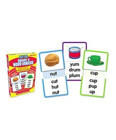 Take a look at this Short 'U' Word Families Slide & Learn Flashcard Set by Learning Train on #zulily today!