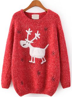 Shop Red Raglan Sleeve Embroidery Snowflake and Deer Jumper online. Sheinside offers Red Raglan Sleeve Embroidery Snowflake and Deer Jumper & more to fit your fashionable needs. Free Shipping Worldwide!