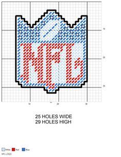 NFL Logo plastic canvas pattern