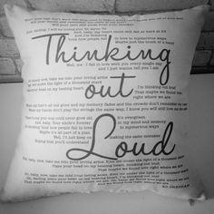 Thinking Out Loud - Cushion | All Things Interior