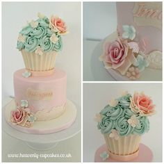 Vintage Giant Cupcake Cake Collage   Flickr - Photo Sharing!
