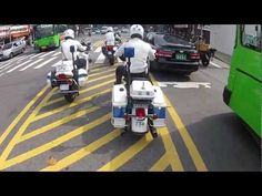 Police motorcycle in Seoul, South Korea.
