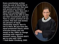 Ginsburg is right. Assault on women's rights must stop or asinine things like Hobby Lobby will continue to happen.