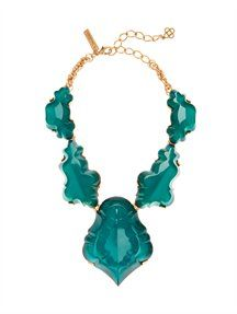 RESIN CHANDELIER #TURQUOISE NECKLACE