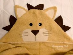 Hooded Towels- Lion and Cat by Everyday Art