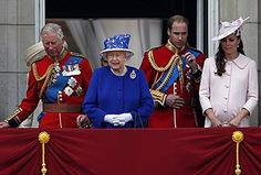Queen Elizabeth with heirs Princes Charles and William, The Washington Post