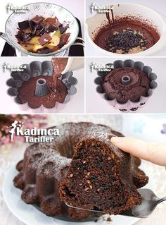 Chocolate Hazelnut Cake Recipe, How To … – Womanly Recipes - Schokolade Chocolate Hazelnut Cake, Chocolate Recipes, Vegan Chocolate, Cake Recipes With Pictures, Molten Lava Cakes, Cream Cake, Dessert Recipes, Yummy Food, Sweets