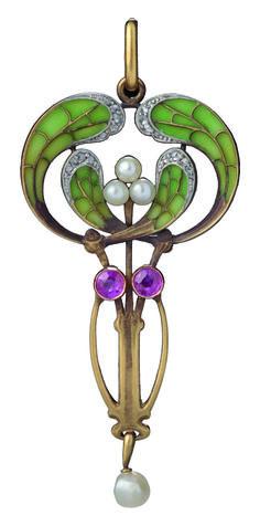 Philippe Wolfers Pendant - c. 1900 - Hessisches Landesmuseum Darmstadt - Art Nouveau
