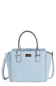 Absolutely adoring this structured satchel from Kate Spade! Gleaming goldtone hardware and a discreet, enameled logo plate add polish to the look.