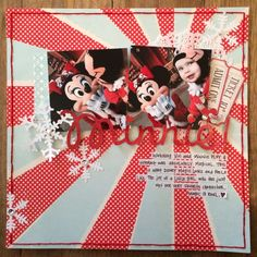 Minnie! Adorable scrapbook page layout!!