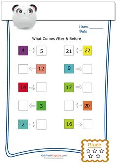 In these letter worksheets, children can teach what comes after alphabet. You can find more relevant English worksheets for kids on our website. Few worksheets Worksheets For Class 1, Printable Preschool Worksheets, English Worksheets For Kids, Kindergarten Math Worksheets, Maths Puzzles, Alphabet Worksheets, Free Printables, Nursery Worksheets, Shapes Worksheets